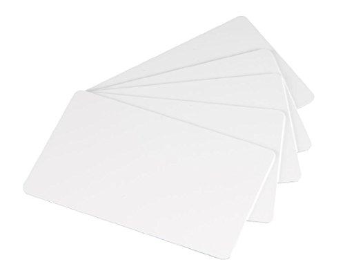 100 x Karteo® Plastikkarten weiß | Blankokarten im EC-Kartenformat | für Ausweise Dienstausweise EC- und Bankkarten Gesundheitskarten