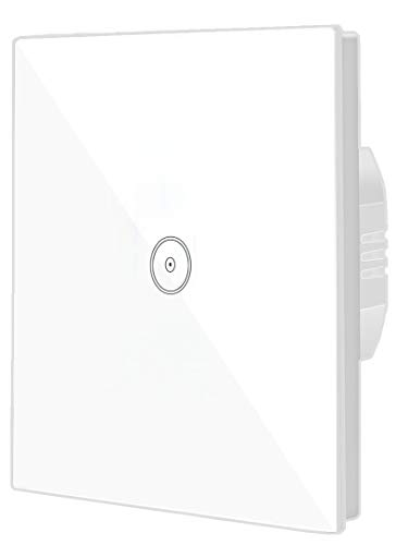 JinvooSmart WiFi Smart Wall Switch 1 Gang EU Switch Panel Compatiable with Alexa Echo or Works with Google Home
