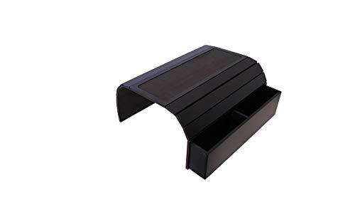 Mesa con bandeja para sofá con base de EVA. Mando a distancia y organizador para teléfono móvil, organizador de reposabrazos, mesa de reposabrazos con bolsillos. Se adapta a brazos de silla cuadrados.