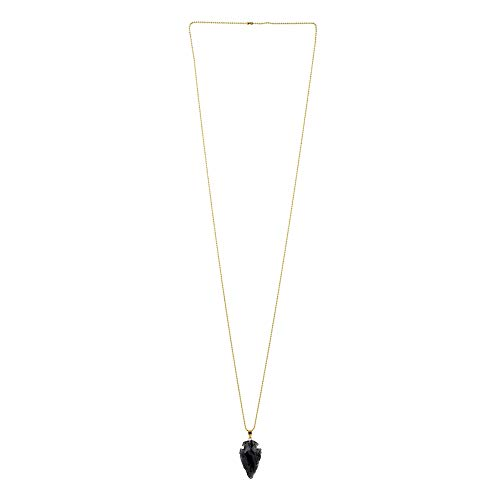 JOE COOL Necklace with A Pendant Obsidian Arrow Head Made with Tin Alloy