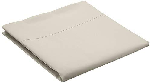 Amazon Basics Everyday - Sábana encimera (100% algodón), 275 x 275 cm - Marfil