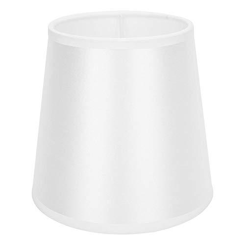Liyeehao Paralume Bianco Piccolo, Paralume Paralume in Stoffa E14 Stile Semplice Accessori Paralume Bianco per Applique da Parete lampadario (4,3x5,9x5,5 Pollici)