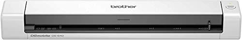Brother DS640 Scanner Portatile, A4, Risoluzione 600 x 600 dpi, 15 ppm B/N e Colore, Autoalimentato...