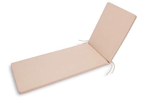 CHILLVERT - Cojin Para Tumbona Gandía 185x55x4.5 cm Camel D