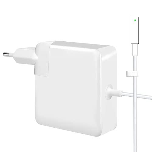 Compatible avec le chargeur Mac Pro, adaptateur d'alimentation de sécurité L-Tip Mag 60W Chargeur de remplacement, adapté pour Mac Air 13 pouces (modèles avant la mi-2012)