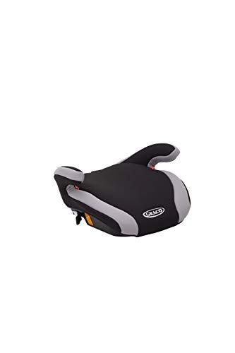 Graco Connext Kindersitz Sitzerhöhung Gruppe 3, 22-36 kg, 6 bis 12 Jahre, anpassbare Isofix Konnektoren, gepolsterte Sitzfläche,  Black