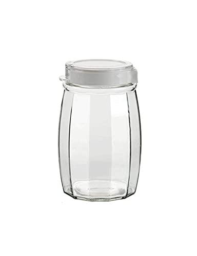 Frasco selado de vidro Frasco de vidro Simples Frasco selado com vários grãos Frasco selado Casa Cozinha Cozinhar Frasco selado Frasco de armazenamento Frasco de vidro Tanque de armazenament