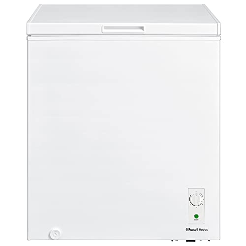 Russell Hobbs RH142CF2002 142L Freestanding White Chest Freezer with 5 Year Warranty, Adjustable Thermostat, 4 Star Freezer Rating & Suitable for Outbuildings & Garages