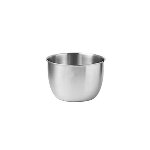 ZHENZEN Stainless metal mixing bowl Multifunctional mixing bowl salad bowl Stackable High capability Reduce cupboard space Easy to scrub (Size : 21cm)