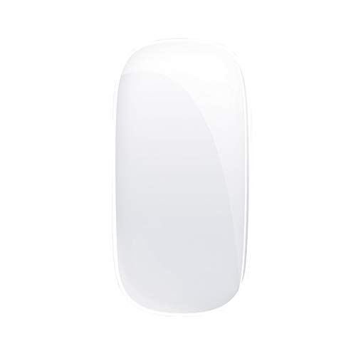 XIAOQIAO Wireless silent rechargeable bluetooth mouse, suitable for Apple macbookpro notebook mac computer air unlimited ipadpro tablet (Color : White)