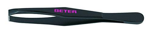 Beter Tweezers With Straight Tip Black Steel 1 Pz