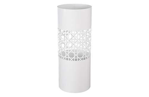 HERSIG - Paraguero Diseño | Paraguero Original de Estilo Moderno con Mosaico - Color Blanco