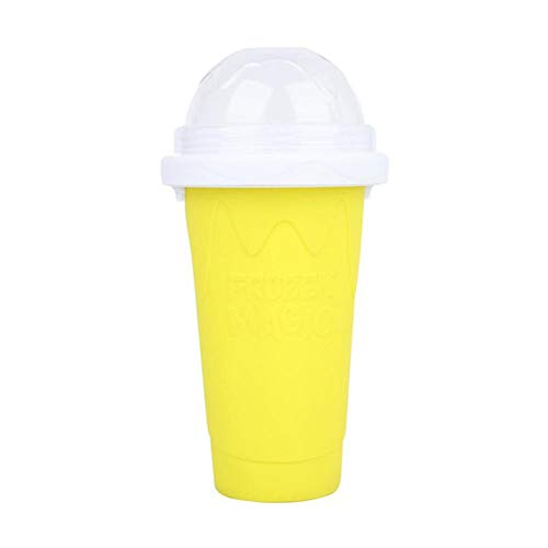 Rongchuang Slusshie Maker Cup, Smoothie Pinch Copa de Hielo Silicone Magic Cup Portable Squeeze Icy Cup DIY Hecho en Casa Smoothie Haciendo Tazas para Niños Y Familia