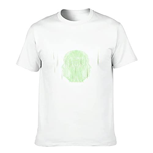 MiKiBi-77 Camiseta de algodón para hombre Código Colorido Ajuste Moderno - Camisa temática
