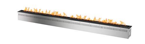 Best Price! Bio Flame 72� Rc Smart Burner 18,000 Btu – 51,000 Btu 14.9 Kw.H Black
