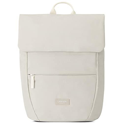 LARKSON Rucksack Damen Klein Sand - RONJA - Moderner & Eleganter Daypack aus Recycelten PET Flaschen für Uni, Freizeit, Arbeit - Wasserabweisend & Laptopfach