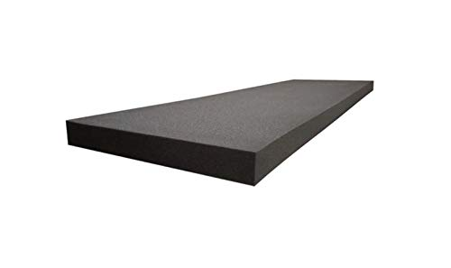1' x 24' x 72' Acoustic Foam Sheets Charcoal Upholstery Foam Pad, Studio Sound Proof Padding, Packing Foam, Day Bed, Chair Cushions Foam Matress Topper