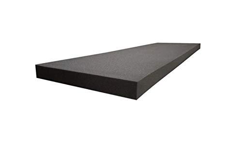 1' x 24' x 72' Acoustic Foam Sheets Charcoal Upholstery Foam Pad, Studio Sound Proof Padding, Packing Foam, Day Bed, Chair Cushions Foam Matress Topper