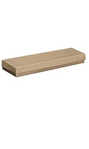 Cotton Filled Kraft Jewelry Boxes - 8' x 2' x 7/8' - Case of 100
