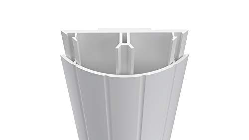 Habengut TV-Kabelabdeckung aus PVC Weiß, für das Kaschieren der Kabel unterhalb des Flachbildschirms, 5 cm breit, Länge 1 m