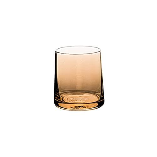 HEIYANQUANblb Botella De Agua, Vidrio Transparente, Taza de Cerveza doméstica, Colorido, Apariencia de Verano, Sentido de diseño, Usado en Bares, Fiestas, etc.SIBIONES: 8.5 * 7 * 7.7 cm (Color : E)
