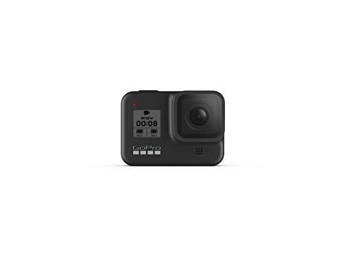 GoPro HERO8 Black + PNY Elite-X 128GB U3 microSDHC Card (Bundle) 3 BUNDLE: GoPro HERO8 Black Camera + PNY SD Card STREAMLINED DESIGN - The re-imagined shape is more pocketable, and folding fingers at the base let you swap mounts quickly. A new side door makes changing batteries even faster, and the lens is now 2x more impact-resistant. HERO8 BLACK MODS - Vloggers, pro filmmakers and aspiring creators can do more than ever imagined – with quick-loading accessories like flashes, microphones, LCD screens and more. Just add the optional Media Mod to up your capture game.