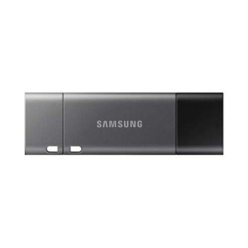 Samsung Memorie Duo Plus USB Flash Drive, USB 3.1, Type-C, Velocità di Lettura Fino a 400 MB/s, 256 GB, Grigio (MUF-256DB)