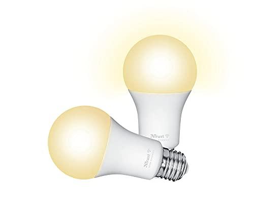 Trust Smart Home - Lampadina LED Smart WiFi E27, colore bianco, compatibile con Alexa, confezione da 2