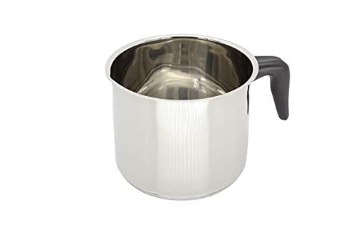 """KRÜGER 2114 Pot au Lait """"Saturn"""" avec Bec 14 cm, Acier Inoxydable, Argent"""