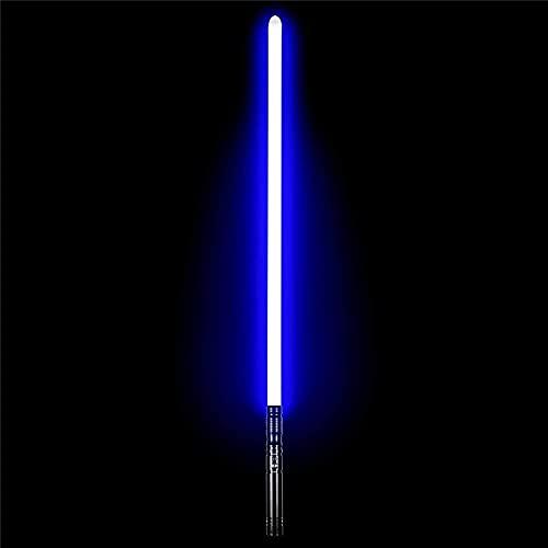 GFKD Metal Lightweight Grade LightsAbert Sable Sable Metal Sword Manija 11 Cambio de Color, Juguetes para niños y Adultos, Prop, Efecto de Vibración Sound Sable de luz, Negro