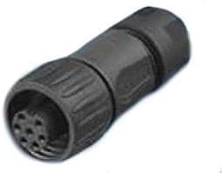 Circular DIN Connectors 6+PE FEMALE STRAIGHT BLACK CRIMP (1 piece)