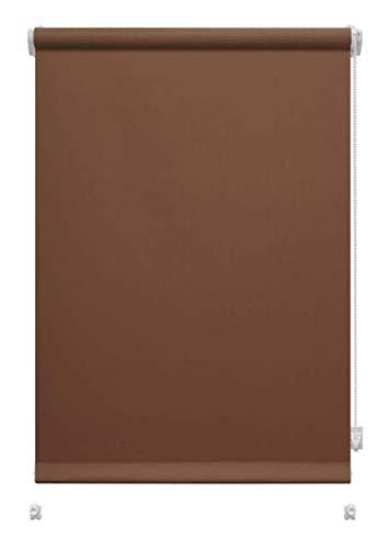 havalime GARDINIA Rollo zum Klemmen oder Kleben, Tageslicht-Rollo, Blickdicht, Alle Montage-Teile inklusive, EASYFIX Rollo Uni (Schokolade, 61,5 x 150 cm)