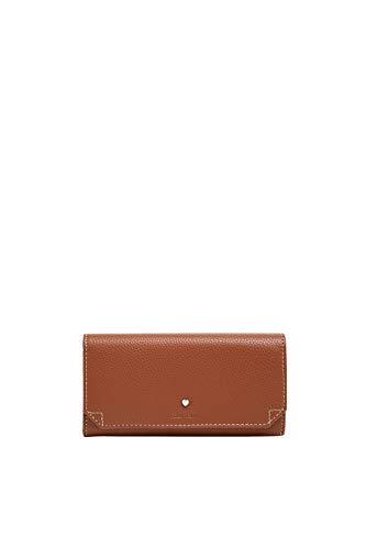 Esprit Accessoires Damen Wb_Nell Flclfla Geldbörse, Braun (Rust Brown), 2x9x19 cm
