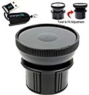 """Universal Vehicle Drinks Cup Holder Mount Adapter w/ 3.5"""" 90mm Suction Mount Surface & Adjustable Base for All Standard Su..."""
