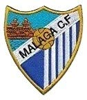 Patch CF Malaga Fútbol parche termoadhesivo bordado cm 7,4 x 9 réplica -1381