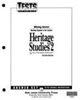 Heritage Studies 2 Tests Answer Key 2nd Edition
