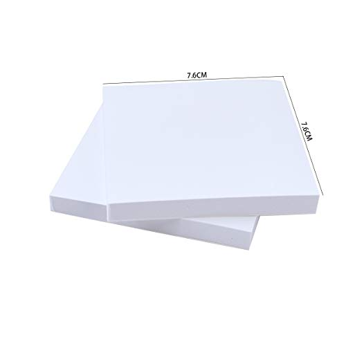 100 Sheets Disposable Dental Mixing Pads for Dental Repairs & Fillings Material, Poly Coated Dental Glass Ionomer Mixing Pad Cement Powder Mixing Pads Small