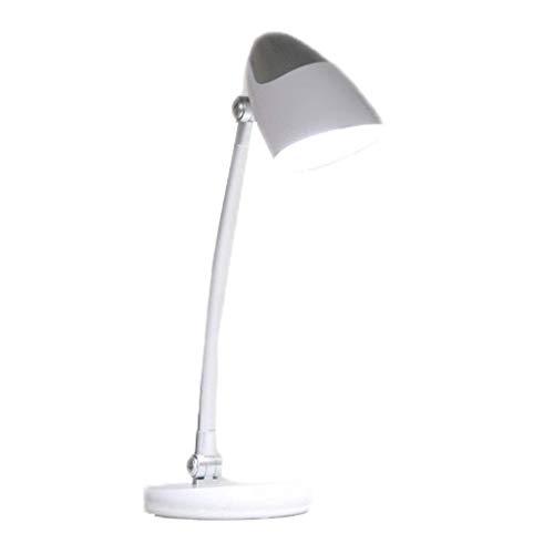 Lámpara Escritorio Protección de los ojos LED lámpara de escritorio de escritorio del dormitorio de noche dormitorio ahorro de energía Plug-in de lectura lámpara de 4000K Soft Light Touch Control de P
