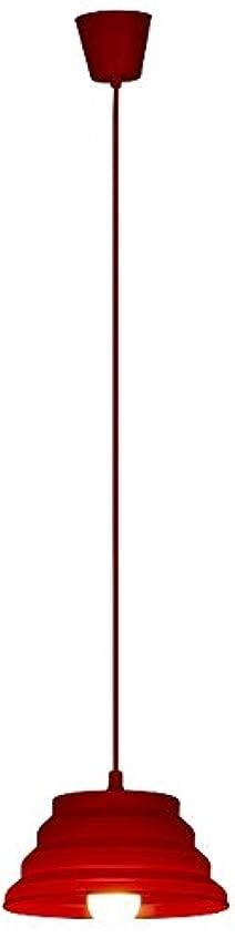 グリル漫画干し草ルミナス シリコンペンダントライト レッド 60W相当 LED電球 電球色付き TN-PS6LHR
