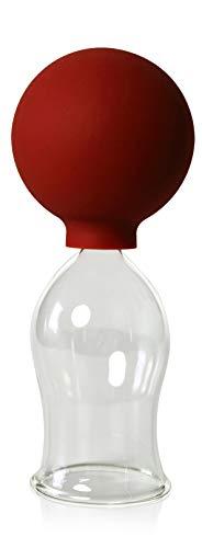 Schröpfglas mit Saugball 40mm zum professionellen, medizinischen, feuerlosen Schröpfen mundgeblasen handgeformt, Schröpfglas, Schröpfgläser, Lauschaer Glas das Original