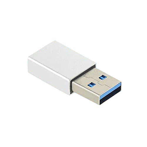 fuchsiaan Tipo-C hembra a USB3.1 convertidor macho adaptador de carga para PC Tablet Phone - Plata