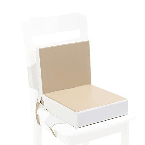 SFWEFWFAFAF Cojín de aumento para silla de comedor de bebé, cojín elevador, portátil, ajustable, desmontable, para silla de comedor, cojín de aumento...