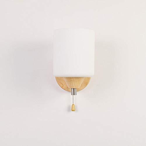 ZHAOHUIYING 1 wandlamp industriële lamp facetgeslepen glas moderne up/down-verlichting bedlampje slaapkamer gang woonkamer eenvoudige IKEA massief houten led creatief warm met schakelaar