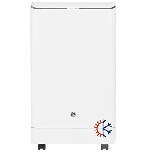 GE 4-in-1 Portable Auto Evaporation Technology: air Conditioner, Heater, Fan, dehumidifier. Cools & Heats Medium Rooms up to 550 Sq. Ft (9,450 BTU, DOE), White