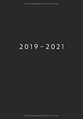 2019 - 2021: Comienza con semana 27 | Julio 2019 - Junio 2021 | Vista Semanal | 1 Semana en 1 Página | 24 Meses Calendario Planificador | A5 Planner | Negro
