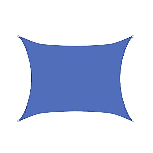 toldo que Toldo De Vela Solar Vela De Sombra Toldo Vela De Sombra Impermeable Anillo Rectangular De Acero Inoxidable En Forma De DPara Jardín, Pérgola, Patio, Terraza (Azul Real)(Size:3*3M(9.8*9.8FT))