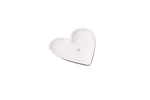 Sent & Meant GB03847 Petit plat en céramique Motif cœur de CGB Giftware