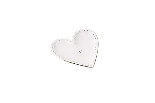 Sent & Meant Kleine Keramikschale in Herzform | von CGB Giftware's Sent & Meant Range | Schmuckdose | Ringschale | Andenken | Besondere Dinge | GB03847