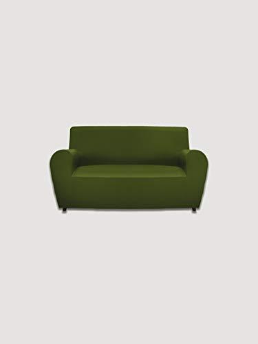 GEMITEX - Funda para sillón de 1 Plaza Gemiglam, Verde, de Tejido bielástico de Color Liso, Fabricada en Italia, poliéster