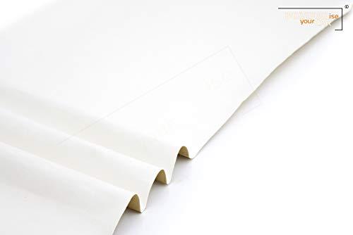 Mikrofaserstoff selbstklebend Wildleder Optik, Kunstleder - Stretch Folie Stoff (300cm x 146cm (36,76 €/m²), Premium Dirty White)
